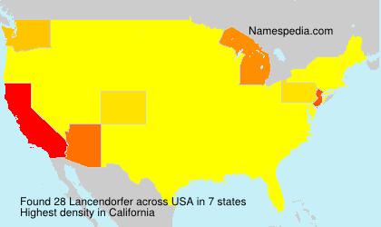 Surname Lancendorfer in USA