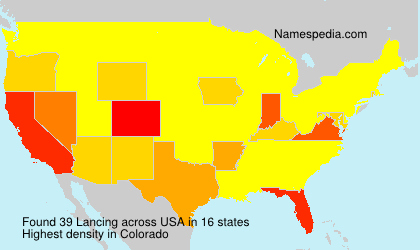 Surname Lancing in USA