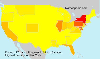 Surname Lanciotti in USA