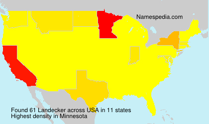 Surname Landecker in USA