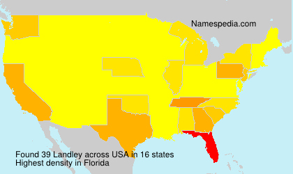 Surname Landley in USA