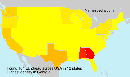 Surname Landreau in USA
