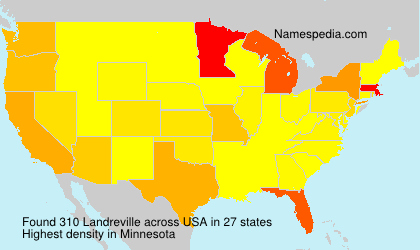 Surname Landreville in USA