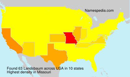 Surname Landsbaum in USA