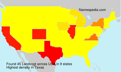Surname Landvogt in USA