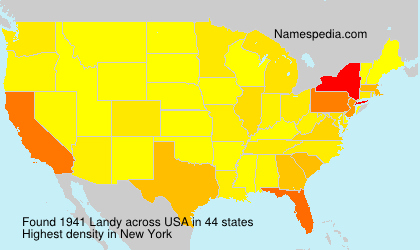 Surname Landy in USA