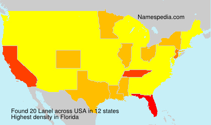 Surname Lanel in USA
