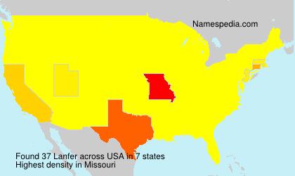 Surname Lanfer in USA