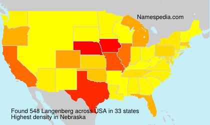 Surname Langenberg in USA