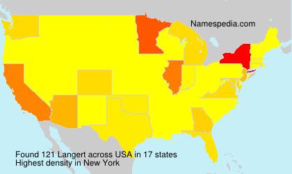 Surname Langert in USA