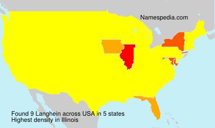 Familiennamen Langhein - USA