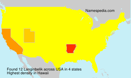 Surname Langinbelik in USA
