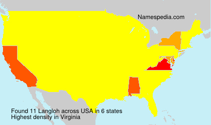 Surname Langloh in USA