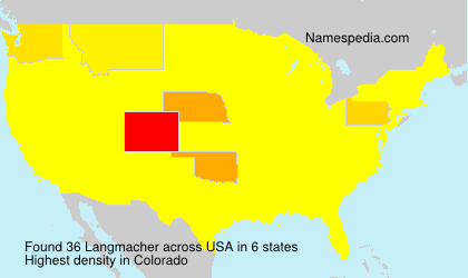 Surname Langmacher in USA