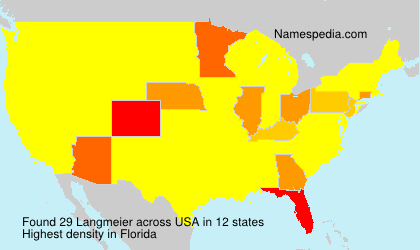 Surname Langmeier in USA