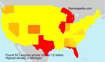 Surname Langnes in USA