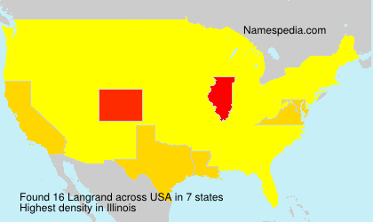 Surname Langrand in USA