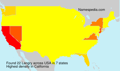 Surname Langry in USA