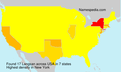 Familiennamen Langsan - USA