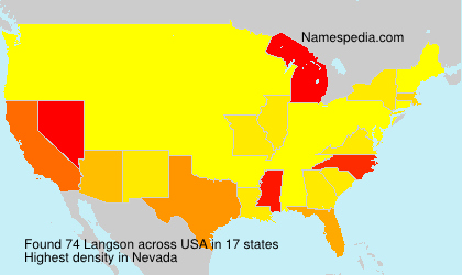 Surname Langson in USA