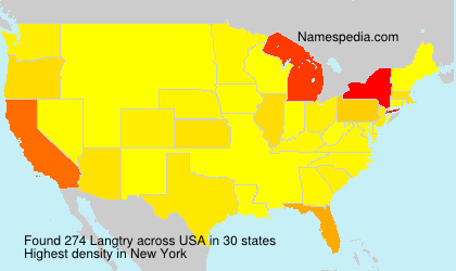 Surname Langtry in USA