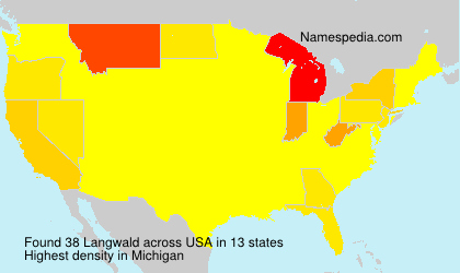 Surname Langwald in USA