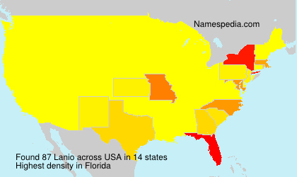 Surname Lanio in USA