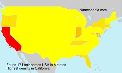 Surname Lanir in USA