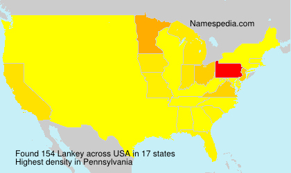 Surname Lankey in USA