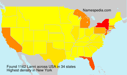 Surname Lanni in USA