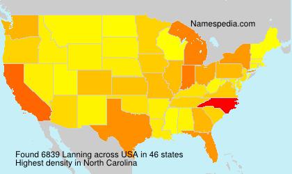 Surname Lanning in USA