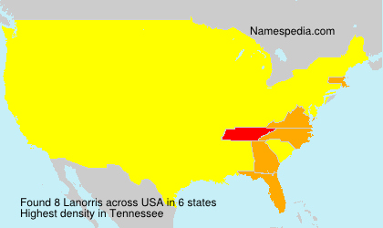 Surname Lanorris in USA
