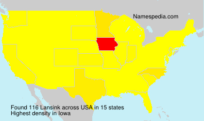 Familiennamen Lansink - USA