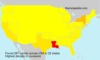 Surname Lantier in USA