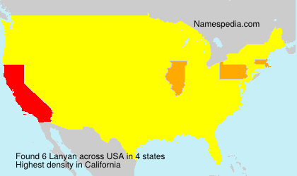 Surname Lanyan in USA