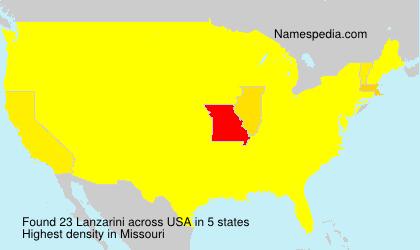 Familiennamen Lanzarini - USA