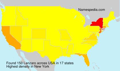 Surname Lanzaro in USA