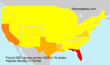 Surname Lanzas in USA