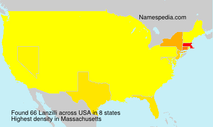 Surname Lanzilli in USA