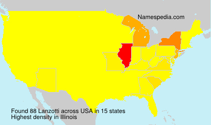 Surname Lanzotti in USA