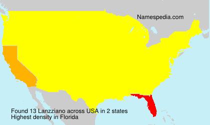 Familiennamen Lanzziano - USA