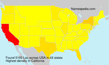 Surname Lao in USA