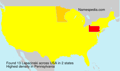 Surname Lapacinski in USA