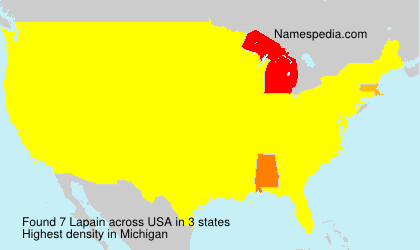 Surname Lapain in USA