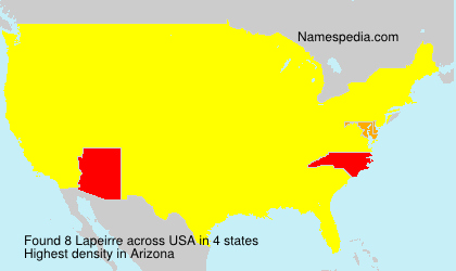 Surname Lapeirre in USA