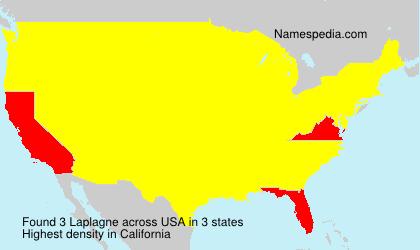 Surname Laplagne in USA