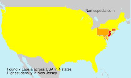 Surname Lapsia in USA