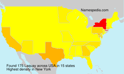 Surname Laquay in USA