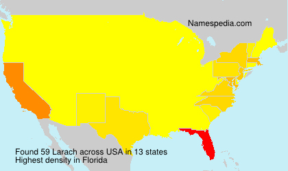 Surname Larach in USA