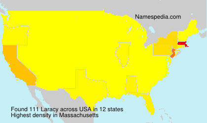 Surname Laracy in USA